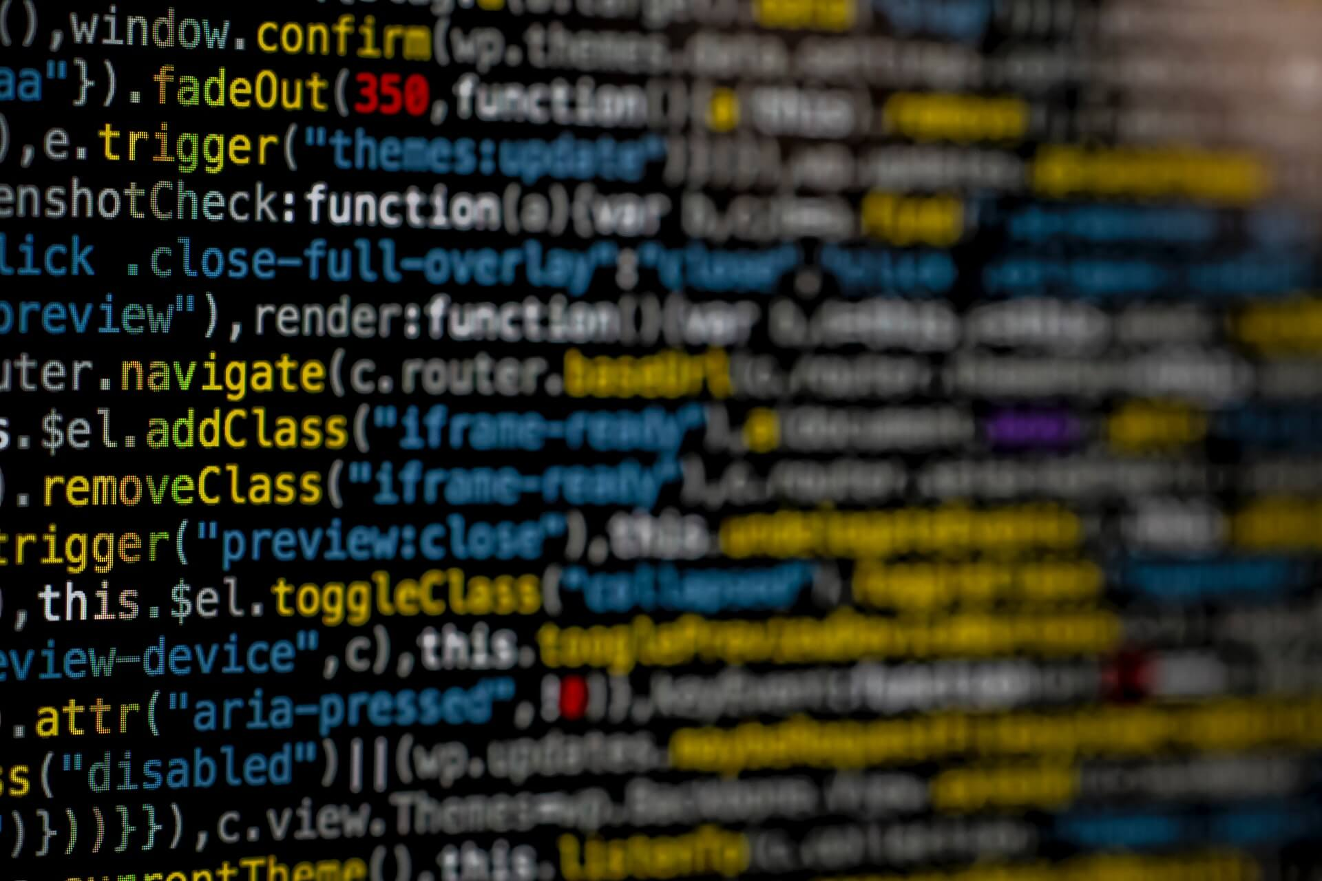 Picture of software code