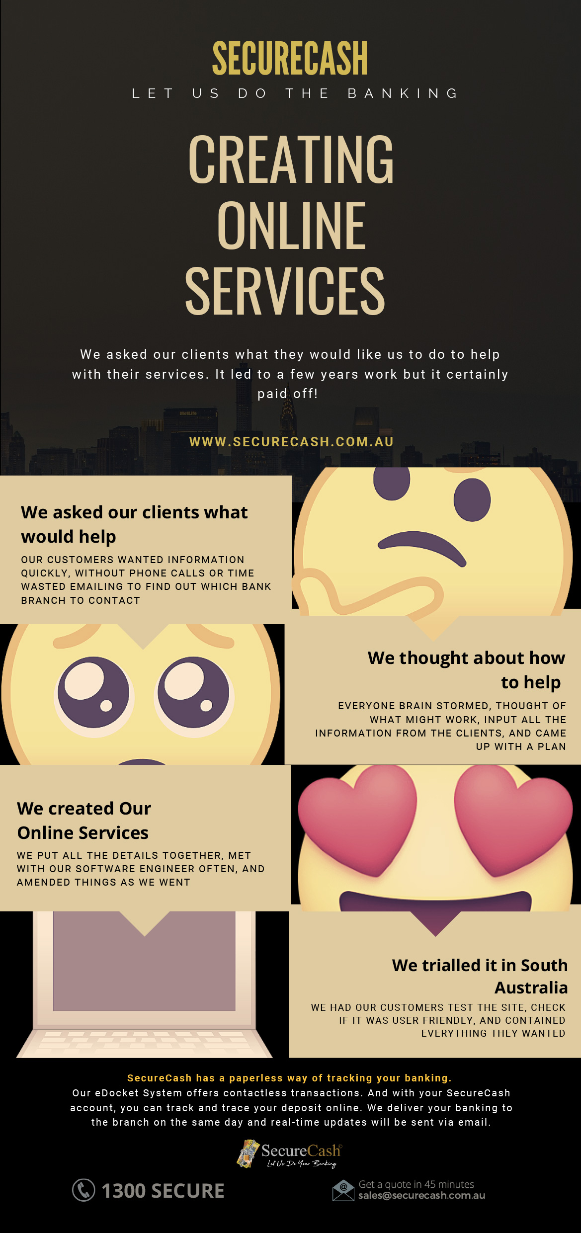 Creating Online Services Infographics