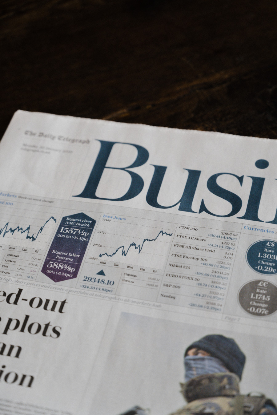 Newspaper Business Section