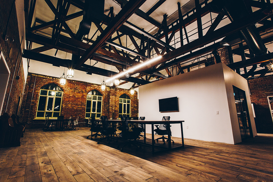Empty Building With Desks